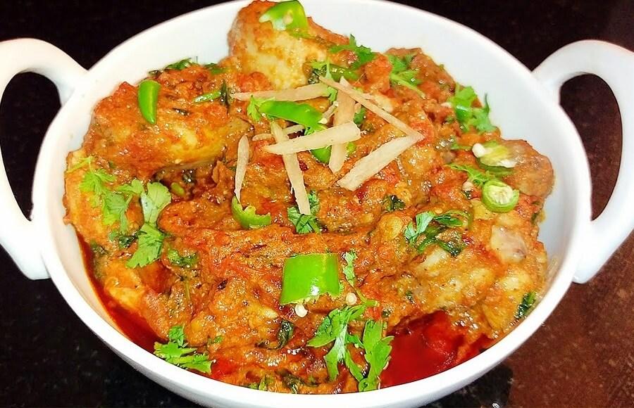 Lahori Red Chicken Karahi Recipe